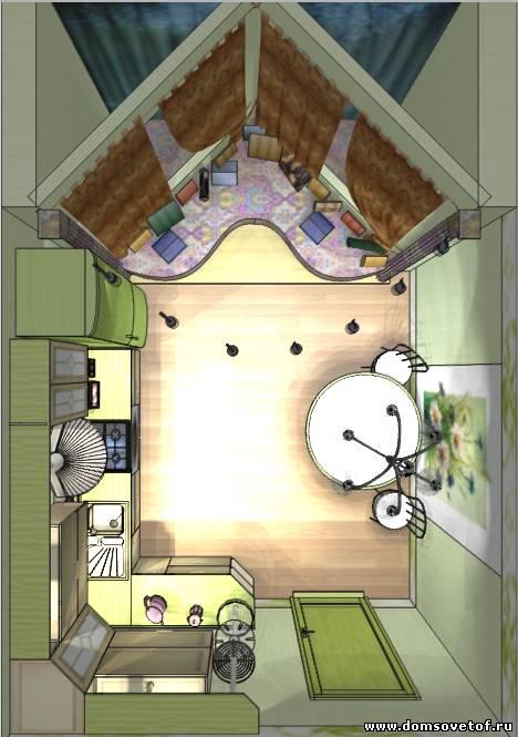 Дизайн кухни с треугольным эркером п44т фото - дизайн кухни .