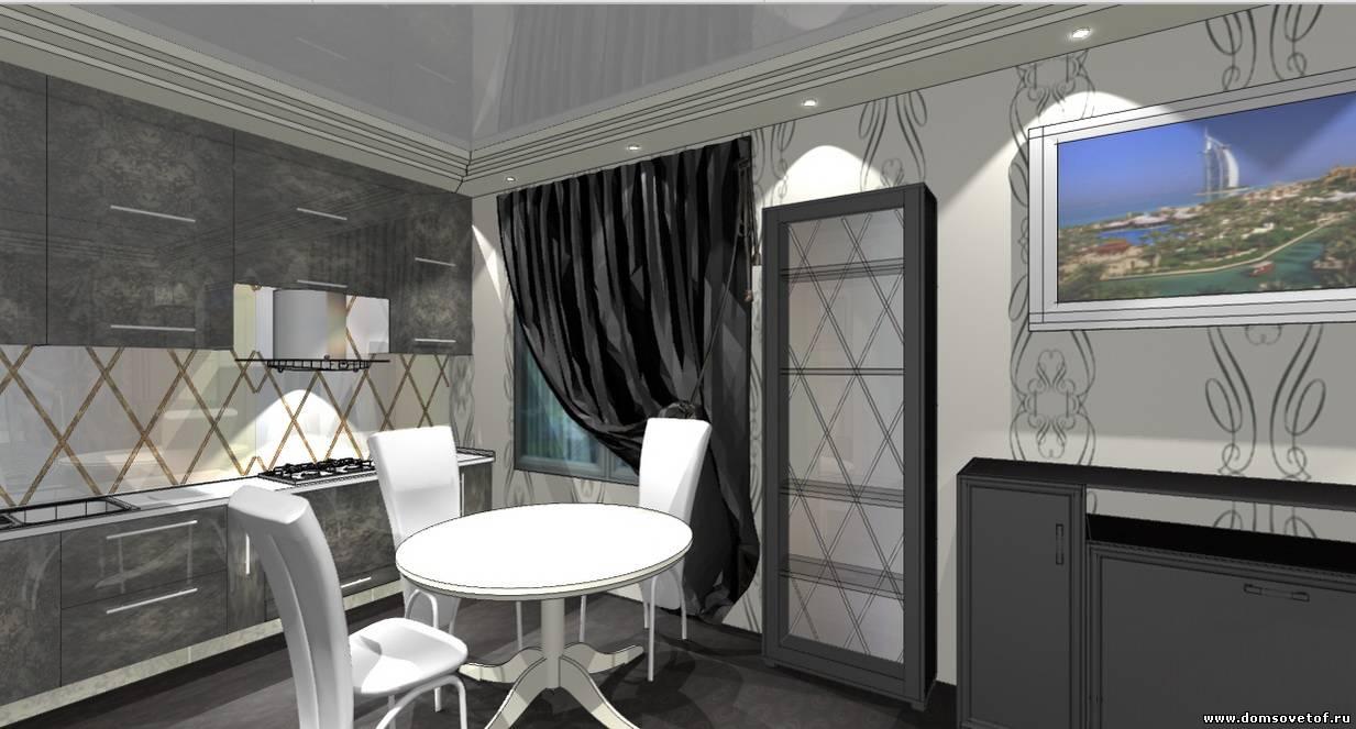 дизайн кухни гостиной в стиле арт деко