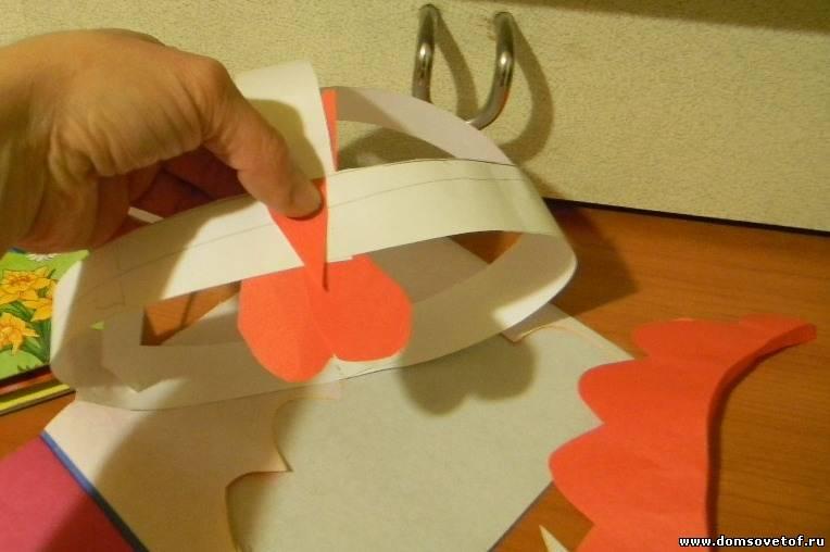 Как сделать гребешок на голову