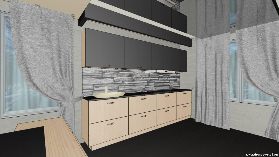 дизайн интерьера кухни в стиле минимализм