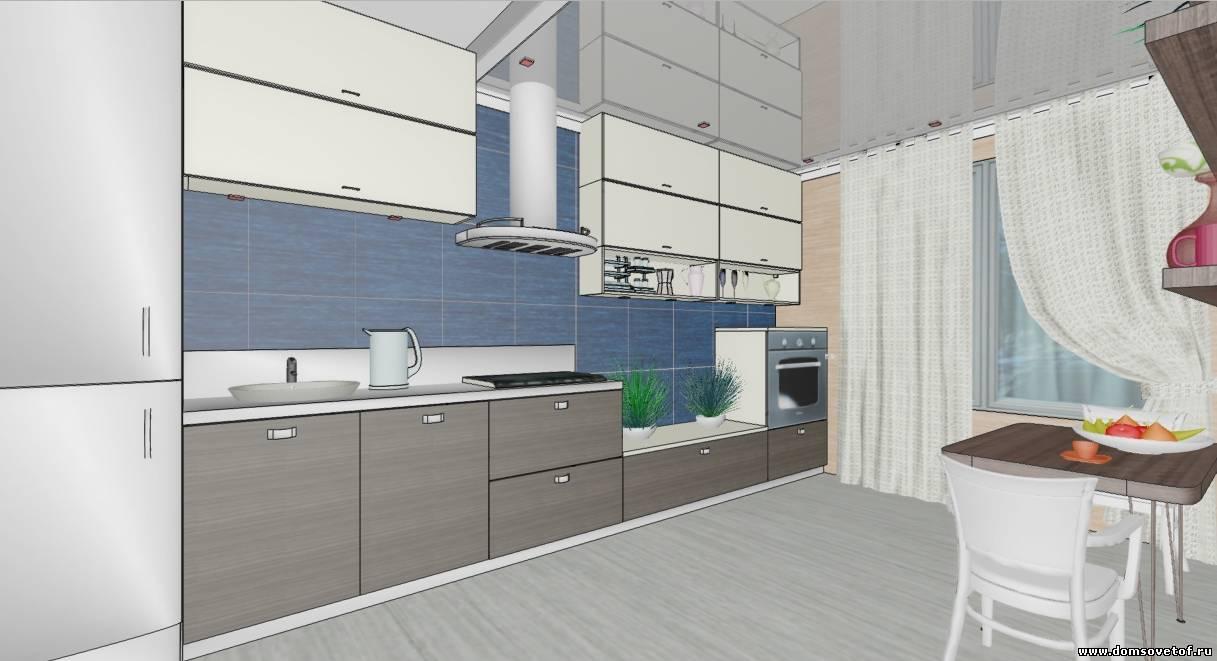 дизайн интерьера кухни 10 кв.м