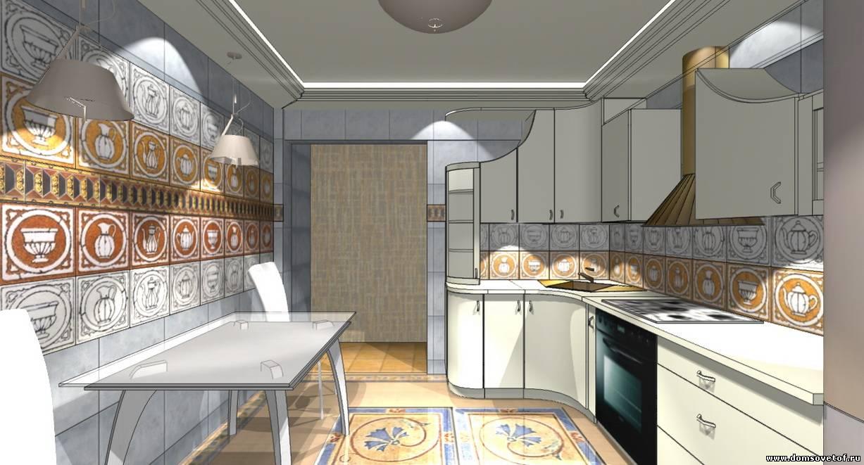 Потолок в кухни дизайн проекты 151