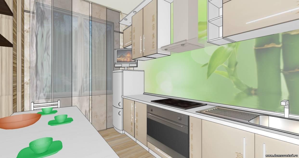 дизайн маленькой кухни в японском стиле