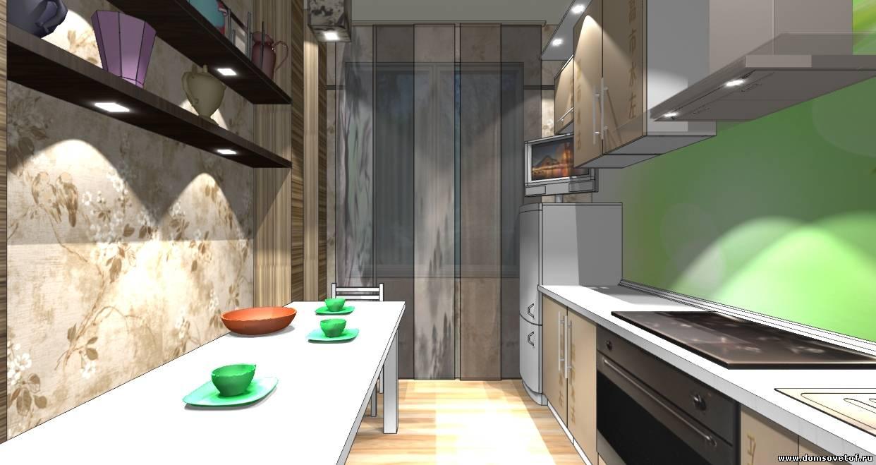 Дизайн кухни проходной