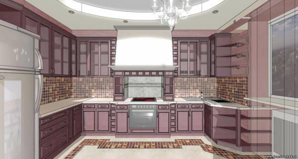 Дизайн кухни с керамогранитом