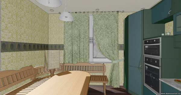 Дизайн кухни совмещенный с прихожей