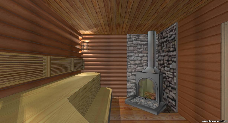 Внутренний интерьер бани фото