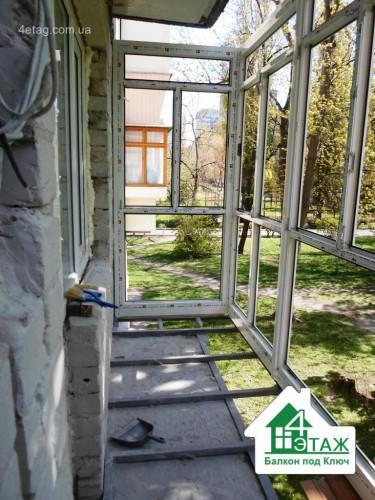 """""""4 этаж.Балкон под ключ"""" Вынос балкона по полу"""