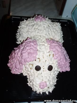 торт Собачка,оригинальный торт по необычному рецепту