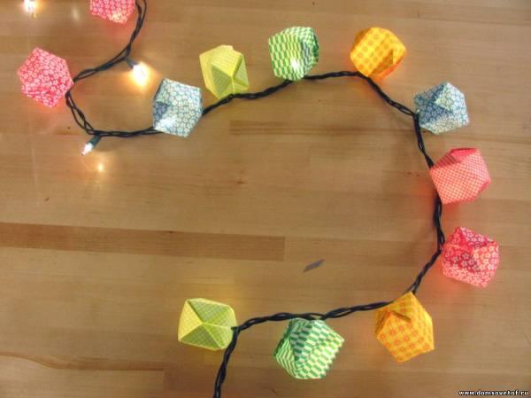 Схема фонариков оригами