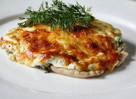 свиная отбивная с грибами и сыром в духовке