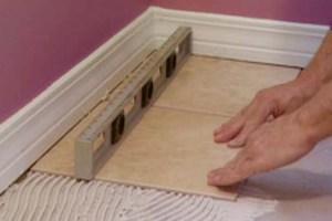 Положить плитку на пол своими руками на старую плитку