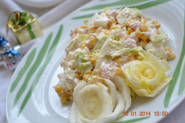 рецепт вкусного легкого салата с майонезом
