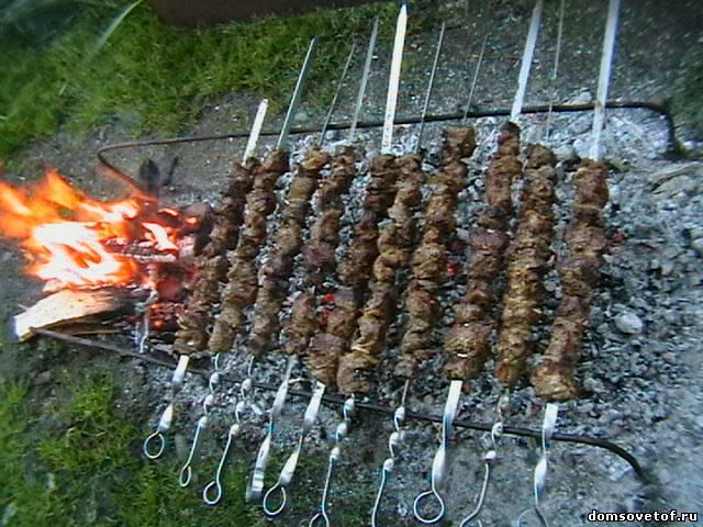 рецепт приготовления шампиньонов на углях