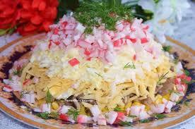 Полезный совет : Как приготовить салат с крабовыми палочками и грибами