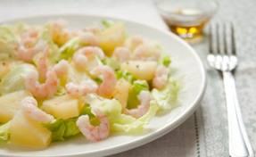 Полезный совет : Рецепт приготовления салата из креветок и цветной капусты