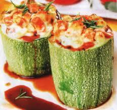 Полезный совет : Рецепт приготовления кабачков фаршированных куриным суфле