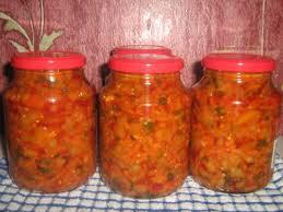 Полезный совет : Рецепт приготовления салата «Овощной каприз» на зиму