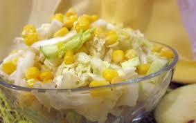 Полезный синод : Вкусный салят вне майонеза не без; пекинской капустой и кукурузой