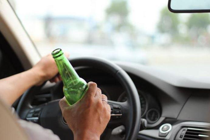 спиртное за рулем