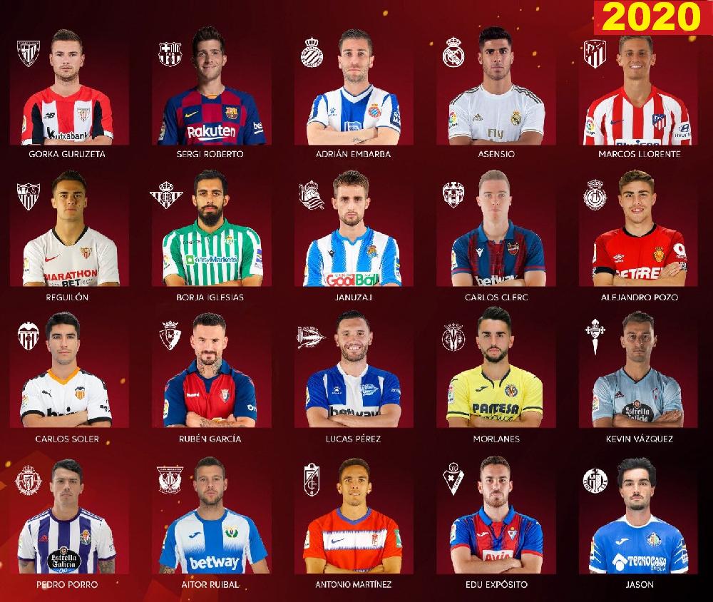 Футболисты чемпионата Испании по футболу