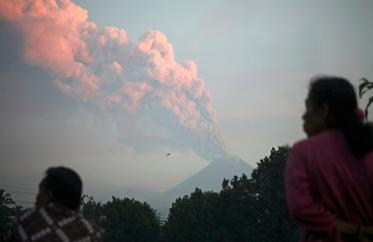 Извержение вулкана Мурапи
