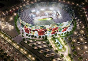 Проект стадиона в Катаре для ЧМ-2022